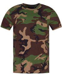 Polo Ralph Lauren - Camouflage Print T-shirt - Lyst