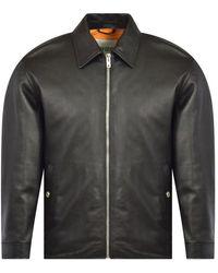 KENZO Black Leather Tiger Jacket