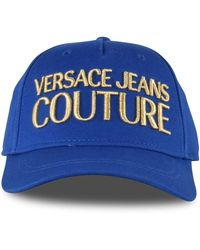 Versace Jeans Blue/gold Embroidered Snapback Cap