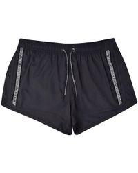 Emporio Armani Anthracite Tape Swim Shorts - Blue