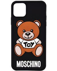Moschino Iphone 11 Pro Teddy Motif Phone Case - Black