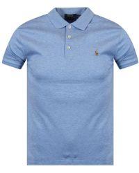 Polo Ralph Lauren - Blue Heather Polo Shirt - Lyst