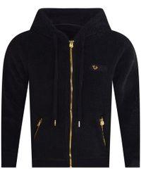 True Religion - Black Fleece Hooded Jacket - Lyst