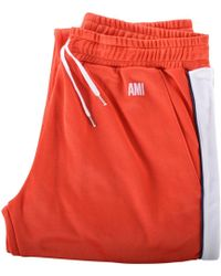 AMI Red/white Track Pants