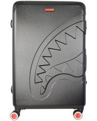 Sprayground Black Sharkitecture Full Size Suitcase