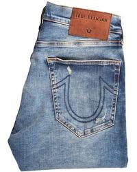 True Religion Light Blue Rocco Skinny Distressed Jeans