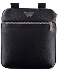Emporio Armani Black Eagle Logo Body Bag