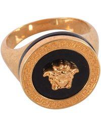 Versace Resin Medusa Ring - Metallic