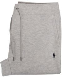 Polo Ralph Lauren Grey Double Knit Tech Fleece Bottoms - Gray