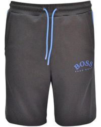 BOSS by Hugo Boss Black/blue Logo Sweat Shorts