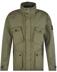 Stone Island Khaki Military Field Jacket - Green