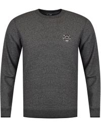 KENZO - Grey Tiger Logo Badge Sweatshirt - Lyst