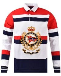 Polo Ralph Lauren Newport Large Crest Rugby Shirt - Red