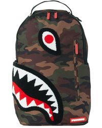 Sprayground Torpedo Shark Camouflage Backpack - Multicolor