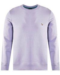 PS by Paul Smith Blue Zebra Motif Sweatshirt