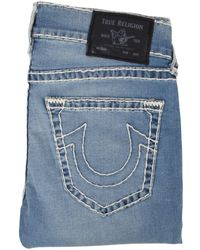 True Religion Light Blue Big Stitch Rocco Jeans