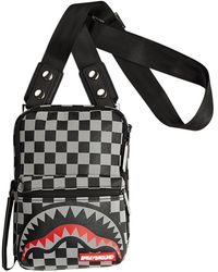 Sprayground Reflective Sharks in Paris Sling Bag - Negro