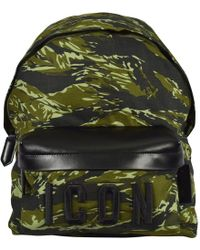 DSquared² Camo Icon Backpack - Green
