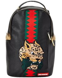 Sprayground Leopard Fur Money Backpack - Negro