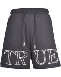 True Religion Onyx Jogger Shorts - Black