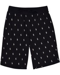 Polo Ralph Lauren Black Logo Sleep Shorts