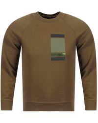 Neil Barrett Military Green Print Sweatshirt