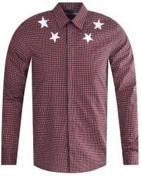 Givenchy - Check Star Print Shirt - Lyst