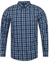 Michael Kors - Admiral Blue Large Check Shirt - Lyst