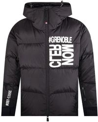 3 MONCLER GRENOBLE Black Bold Logo Puffer Jacket