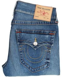 True Religion Blue Rocco Relaxed Skinny Jeans
