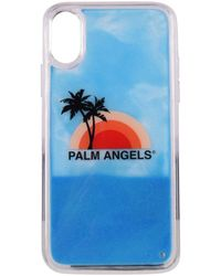 Palm Angels Sunset Iphone Xs Phone Case - Blue