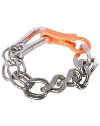 Heron Preston Silver Geometric Cubic Bracelet - Metallic