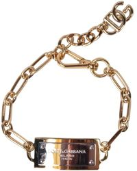 Dolce & Gabbana Gold/silver Plaque Bracelet - Metallic