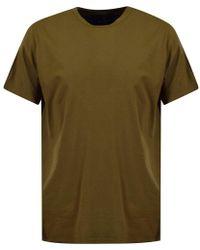 Blood Brother - Khaki Back Text Logo Longline T-shirt - Lyst
