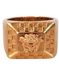 Versace Gold Metal Medusa Ring - Metallic