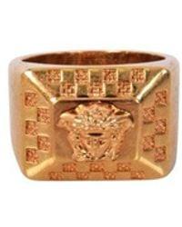 Versace - Gold Metal Medusa Ring - Lyst