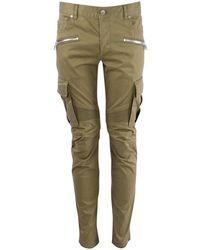 Balmain Khaki Cargo Style Pants - Green