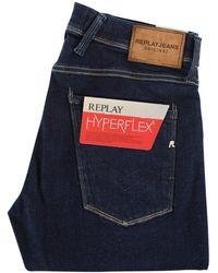 Replay - Dark Blue Stretch Denim Jeans M914 661 08 - Lyst
