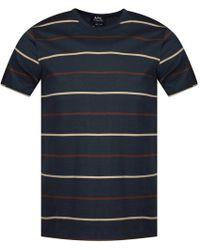 A.P.C. - Khaki Striped T-shirt - Lyst