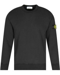 Stone Island Black Logo Badge Sweatshirt