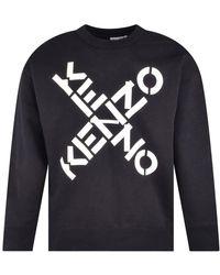 KENZO Black Sport X Logo Sweatshirt