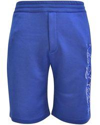 Alexander McQueen Marine Blue Shorts