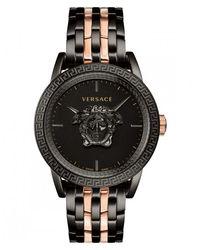 Versace Men's 43mm Palazzo Empire Watch, Black/rose Gold