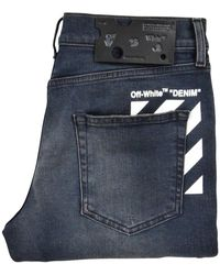 Off-White c/o Virgil Abloh Dark Gray Diagonal Stripe Stretch Skinny Jeans