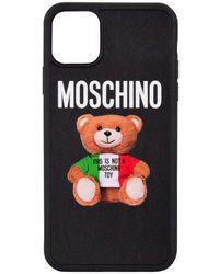 Moschino Black Teddy Print Iphone 11 Pro Max Case