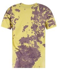 Blood Brother Lemon Tie-dye Bleach Melted S/s T-shirt - Yellow