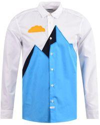 KENZO Slim Embroidered Shirt - White