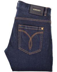 Versace - Indigo Denim Jeans - Lyst