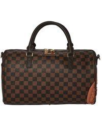 Sprayground Brown/ Black Chequered Mini Duffle Bag