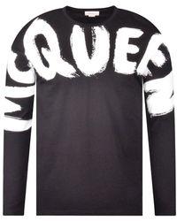 Alexander McQueen Logo Black Long Sleeved T-shirt